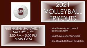 HS Volleyball Tryout Info