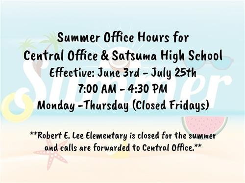 Summer Office Hours Infographic
