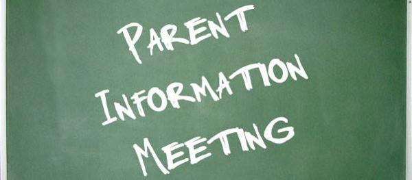Parent Information Meeting for Upcoming 9th Graders